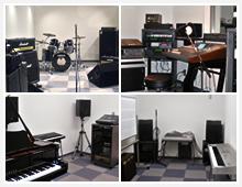 CD、MD、DAT、アンプ、モニター完備の充実設備。